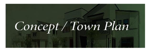 【アフュージアガーデン茨木春日】CONCEPT & TOWN PLAN