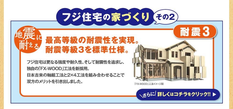 フジ住宅の家づくり。その2 耐震3
