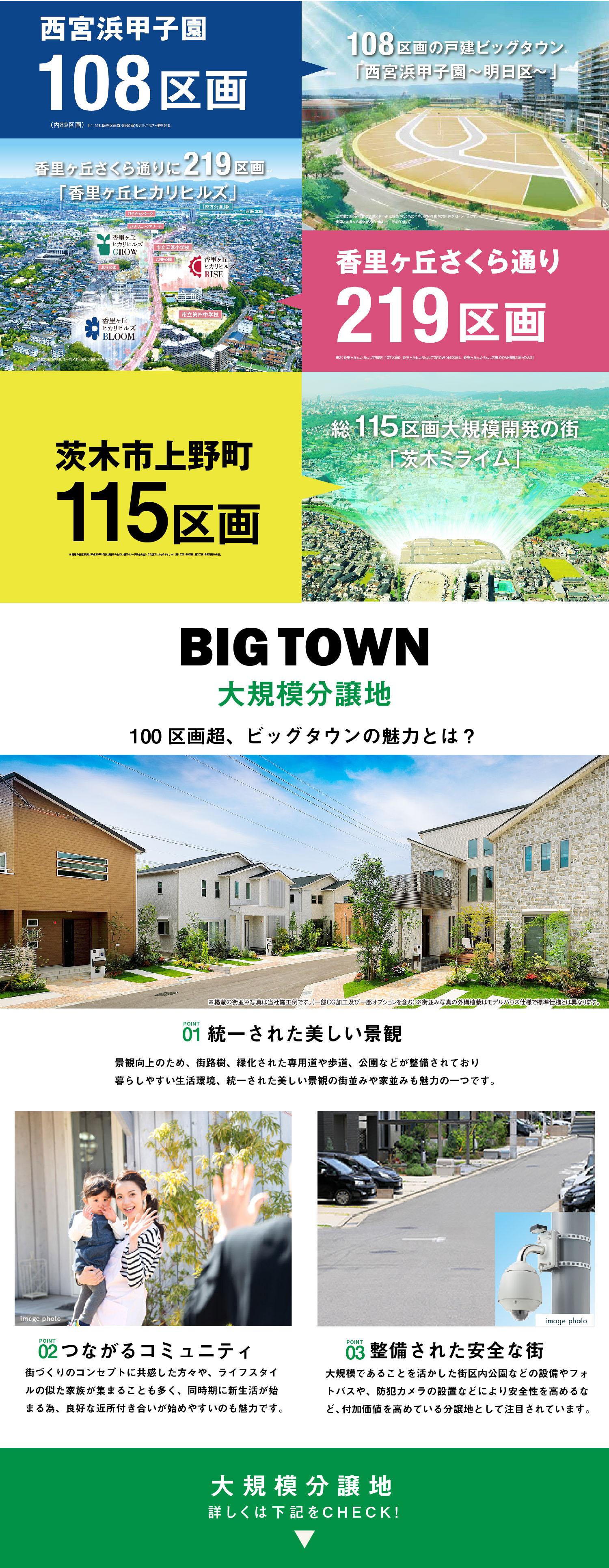 100区画超!大規模物件特集[フジ住宅]分譲住宅、新築一戸建てが満載
